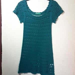 Old Navy teal xs-s crochet cover up